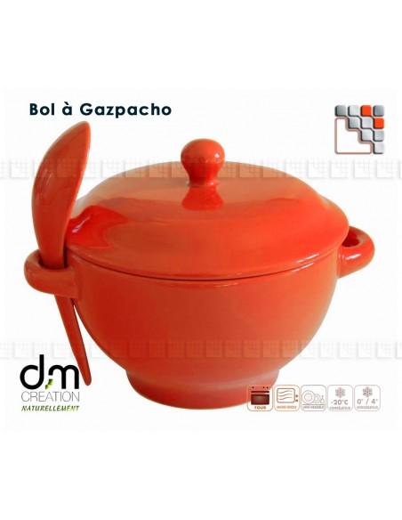 Bowl of Gazpacho Land of Origin T41-001 Terres d'Origine Table decoration