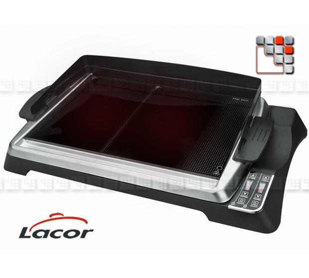 Plancha Grill Teppanyaki 1280 Lacor 402LR69133 Lacor® Plancha Mobile à Poser