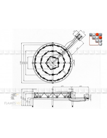 Bruleur Industriel O-900 60Kw Flames VLC F08-O900 FLAMES VLC® Bruleur Gaz Flames VLC
