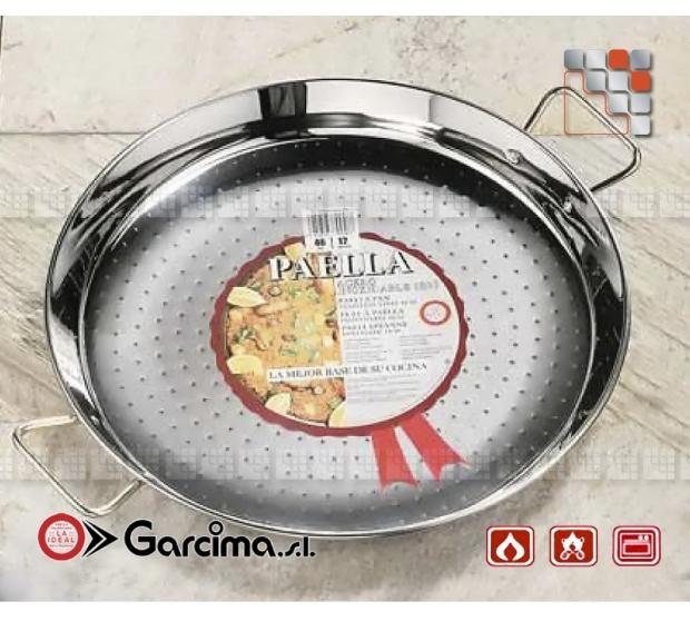 Paella dish stainless steel 18 8 D80 Garcima G05-70080 GARCIMA® LaIdeal Stainless steel Paella Pans Antiadhésive HQ Garcima