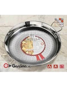Flat Paella Stainless Steel 18 8 D70 Garcima G05-70070 GARCIMA® LaIdeal Stainless steel Paella Pans Antiadhésive HQ Garcima
