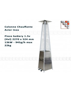 Patio heater Gas Flame O53-8530052 FAVEX Outdoor Patio Heater
