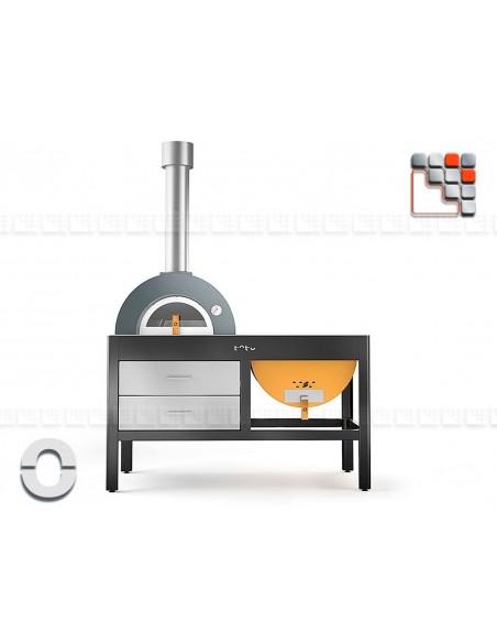 La Plancha Grill&Oven TOTO Alfa Refrattari 301FXTOTO ALFA PIZZA® Four Gastro Panini Pizza