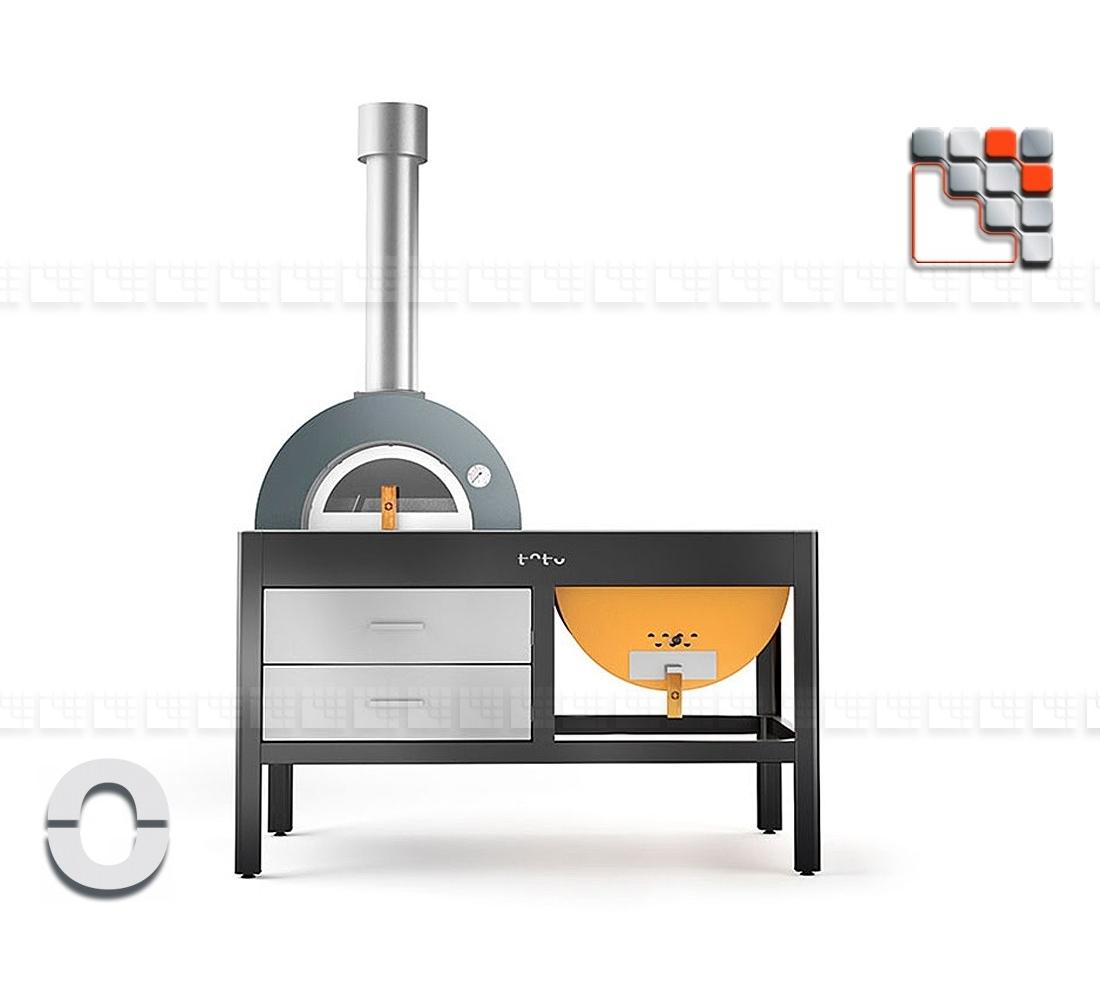 plancha grill four toto alfa refrattari pour pizza olo. Black Bedroom Furniture Sets. Home Design Ideas