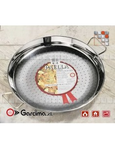 Paella dish stainless steel 18 8 D60 Garcima G05-70060 GARCIMA® LaIdeal Stainless steel Paella Pans Antiadhésive HQ Garcima