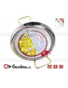 Flat Paella Stainless Steel 18 8 D40 Garcima G05-70040 GARCIMA® LaIdeal Stainless steel Paella Pans Antiadhésive HQ Garcima