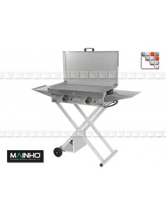 Chariot Pliable pour Plancha X ECO X MAINHO® Dessertes & Chariots Bois Inox