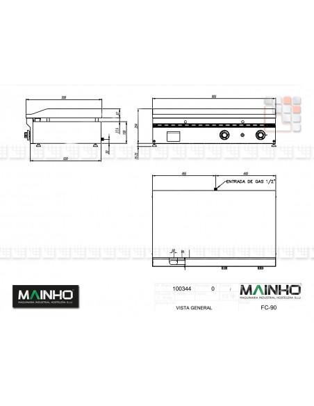 Fry-Top FC-90 Full-Crom MAINHO M04-FC90 MAINHO® Fry-Tops MAINHO EURO-CROM Snack