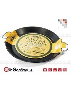 Plat Paella Inox Xylan D28 Tout Feux