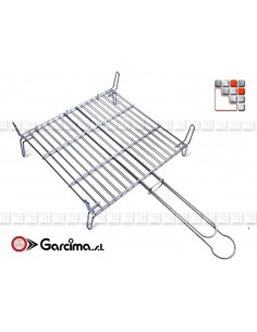 Reversible Stainless Steel Grill G46-300 GARCIMA® LaIdeal Barbecues Oven Accessories