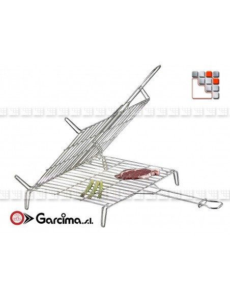 Grill Inox Reversible pour Barbecue G46-300 GARCIMA® LaIdeal Barbecue Four et Accessoires