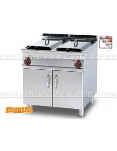 Friteuse 90 400V IperLotus LOTUS L23-F2/2598ET LOTUS® Food Catering Equipment Friteuse Wok Four Vapeur