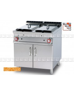 Friteuse 90 Gaz IperLotus LOTUS L23-F2/2598G LOTUS® Food Catering Equipment Friteuse Wok Four Vapeur