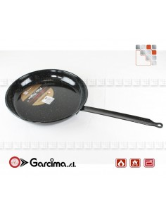 Enamelled Pan PataNegra Garcima 9B891 GARCIMA® LaIdeal Sartens, Cazuelas y Tapas Garcima