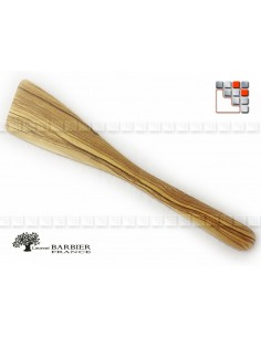 Spatula Cant L30 in olive wood 504BR303063 LaurentBarbier France Special kitchen utensils Plancha