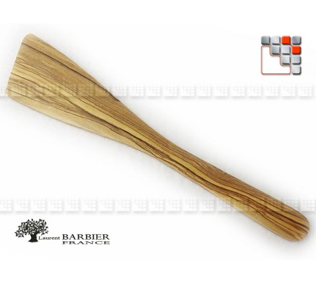 Olive wood Beveled Server L30 Laurent Barbier B18-303063 LAURENT BARBIER France Special Plancha Ustensils