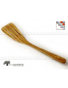 Spatula Galbee Striee Luberon in olive wood LB 504BR303143 LaurentBarbier France Kitchen Utensils
