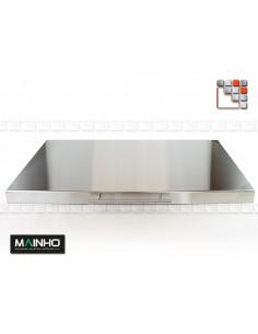 Couvercle Inox amovible pour Plancha et Grill M36-2024 MAINHO SAV - Accessoires Pièces détachées Gaz MAINHO