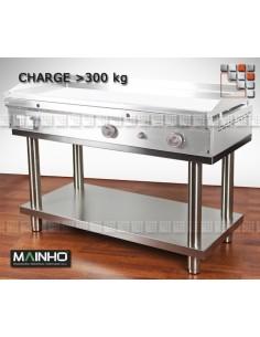 Chassis Inox Pro Surbaisse Mainho  MAINHO® Dessertes & Chariots Bois Inox