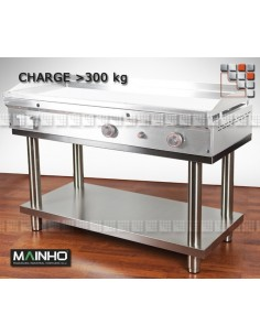 Stainless Steel Rolling Support Mainho STP/FC MAINHO® Wood & stainless steel Outdoor Trolley