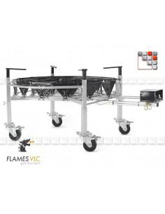 Kit 4 Pieds Reglables Roues Orientables VLC F08-BDKTRO900 FLAMES VLC® Bruleur Gaz Flames VLC