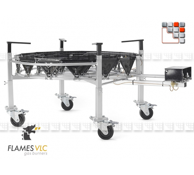 Kit 4 Adjustable Feet Wheels Steerable VLC F08-BDKTRO900 FLAMES VLC® Burner Gas Flames VLC