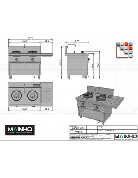 Wok W-200 Mainho M04-W200 MAINHO® Fryers Wok Steam-Oven