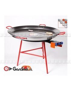 Kit Paella 100D Acier Poli Garcima G05-K10019 GARCIMA® LaIdeal Kit Plat Paella Garcima