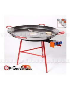 Kit Plat Paella 90D Acier Poli Garcima G05-K10090 GARCIMA® LaIdeal Kit Plat Paella Garcima