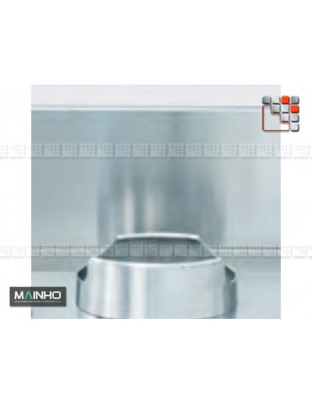 Credence Inox Wok W MAINHO M04-OPSWC MAINHO® Friteuse Wok Four Vapeur