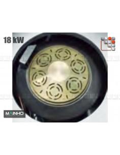Burner Gas 18kW Wok W Mainho M04-OQGW MAINHO® Fryers Wok Steam-Oven