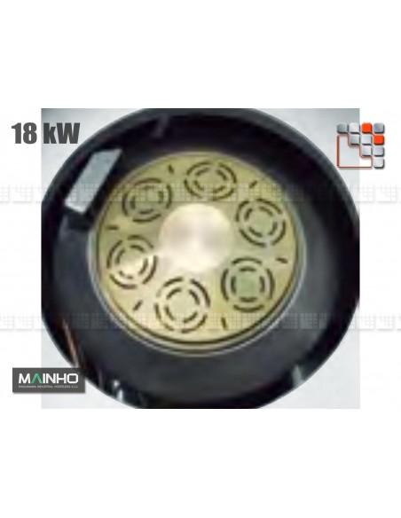 Bruleur Gaz 18kW Wok W MAINHO M04-OQGW MAINHO® Friteuse Wok Four Vapeur