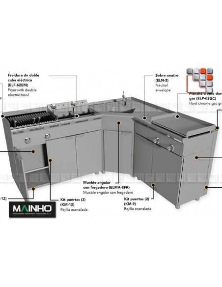 Plancha ELP-62G Eco-Line MAINHO M04-ELP62G MAINHO® Gamme ECO-LINE pour Cuisine Compacte ou Food-Truck