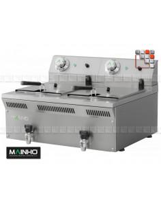 Friteuse ELF-62EM 8+8L EcoLine MAINHO M04-ELF62EM MAINHO® Gamme ECO-LINE pour Cuisine Compacte ou Food-Truck
