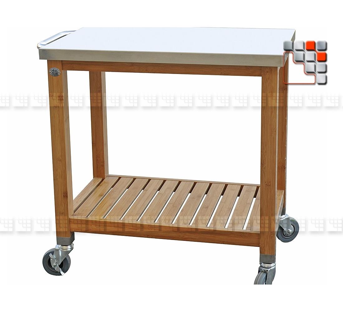 desserte plancha bamboo l80 dm creation. Black Bedroom Furniture Sets. Home Design Ideas