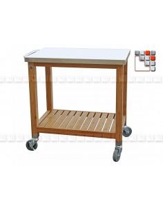 Desserte Plancha Bambou PM L80 301PX0231 dm CREATION® Dessertes & Chariots Bois Inox