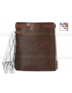 Tablier Cuir Short Cognac Black MAINHO W47-LSAW06 WITLOFT® Textiles et Cuirs