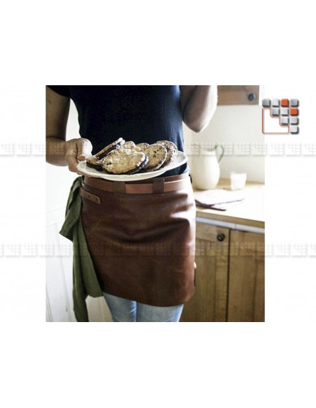 Apron Leather Short Cognac Black MAINHO 506ATWLSAW06 WITLOFT® Textiles