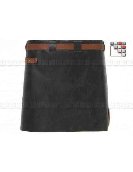 Apron Leather Short Cognac Black MAINHO W47-LSAW06 WITLOFT® Textiles