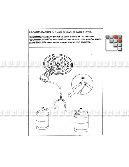 Bruleur Paella D90P CTE Garcima G05-20903 GARCIMA® LaIdeal Bruleurs Gaz Paella Garcima