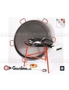 Kit Paella 130DCTE Acier Poli Garcima G05-K10016CTE GARCIMA® LaIdeal Kit Plat Paella Garcima