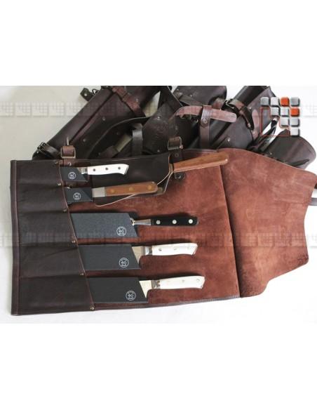 Sacoche cuir 5 rangements Mainho