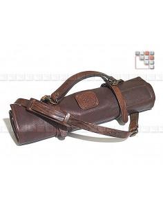 Messenger bag leather for storage of knives Mainho