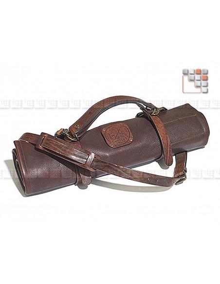 Besace cuir pour rangement de couteaux Mainho
