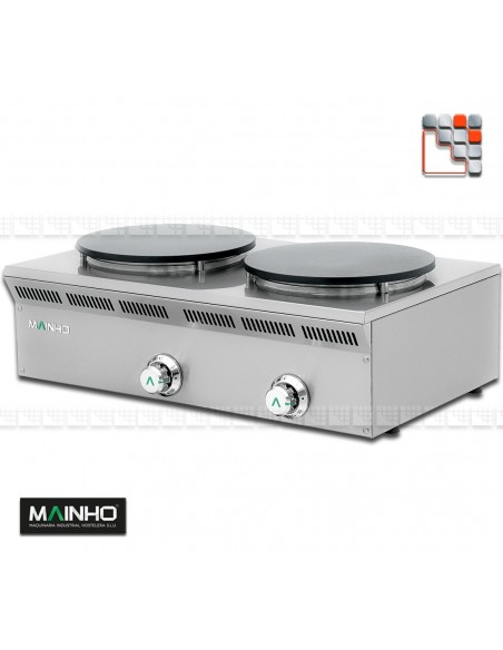 Crepiere ELC-82G Gaz Eco-Line MAINHO M04-ELC82G MAINHO® Gamme ECO-LINE pour Cuisine Compacte ou Food-Truck