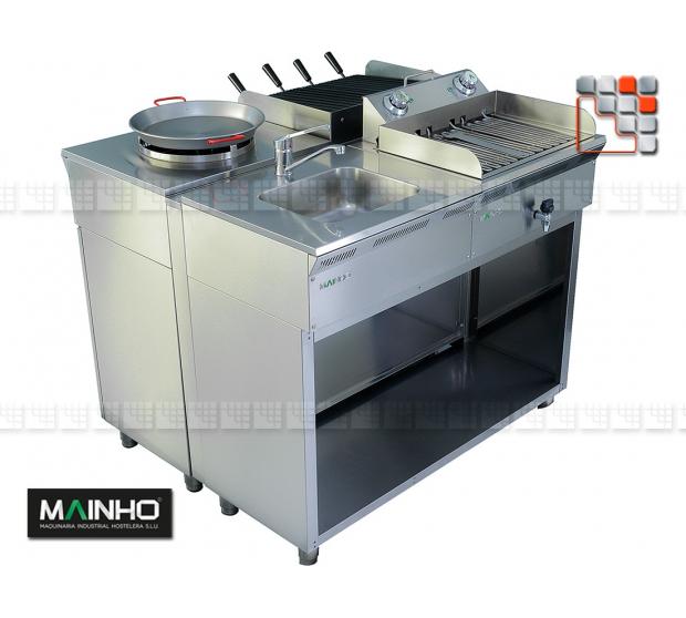 Cuisine Inox serie ECO-LINE 240 MAINHO M04-ELX240 MAINHO® Gamme ECO-LINE pour Cuisine Compacte ou Food-Truck