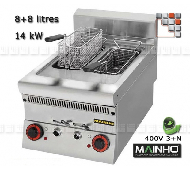 Fryer Electric Super-Line 65 Mainho M04-SLF42ET MAINHO® Fryers Wok Steam-Oven
