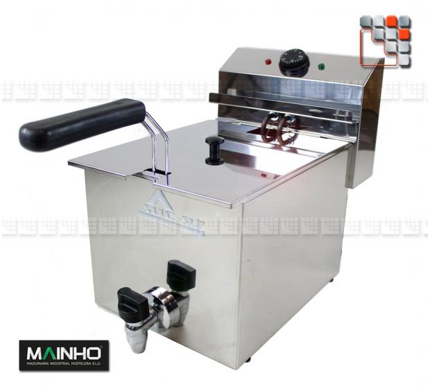 Fryer Semi-Pro 8L 3.3 kW M04-FRE8V MAINHO® Fryers Wok Steam-Oven