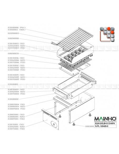 Panier Pierre de lave de Grill ELB MAINHO M36-1301310006 MAINHO SAV - Accessoires Pièces détachées Gaz MAINHO