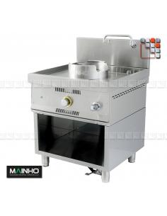 Wok W-100 meuble inox MAINHO M04-W100 MAINHO® Friteuse Wok Four Vapeur